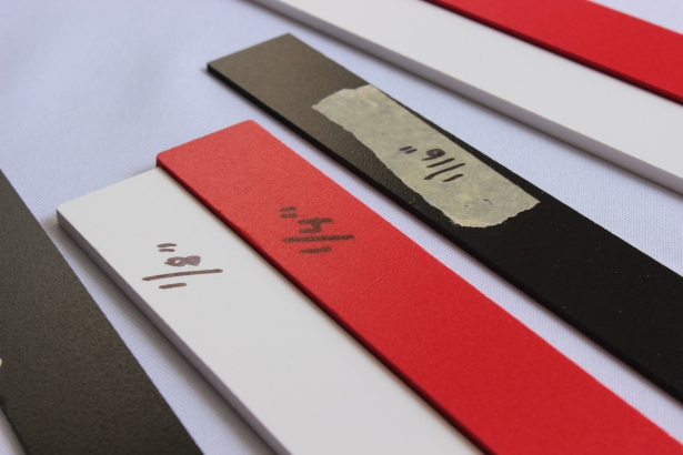 Marked perfection strips