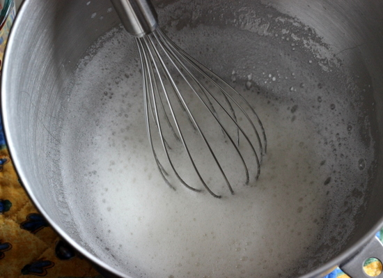 Add the cream of tartar and whisk