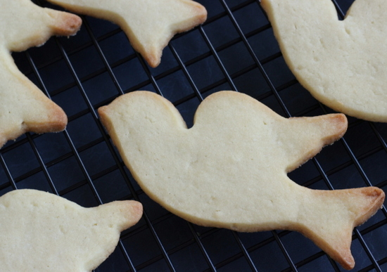 Over-baked dove cookies