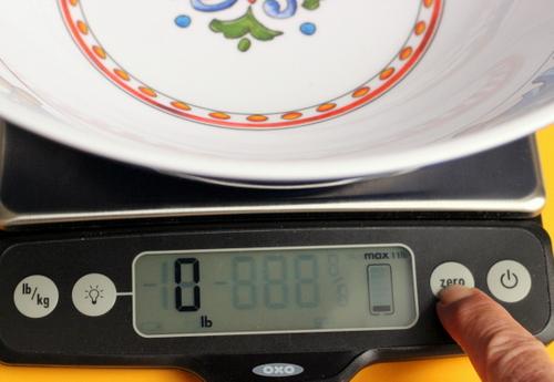 Reset the scale to zero