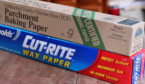 Wax paper and parchment paper