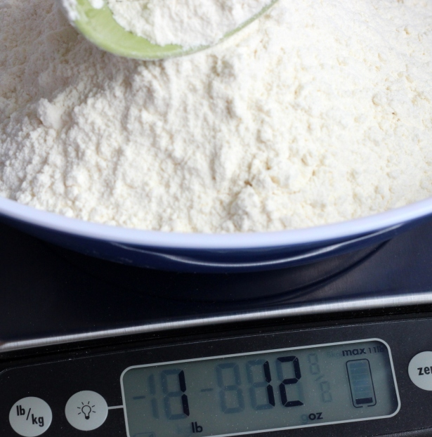 Weighing my flour