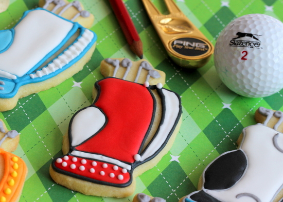 A few golf bag cookies