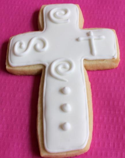 Communion cross cookies