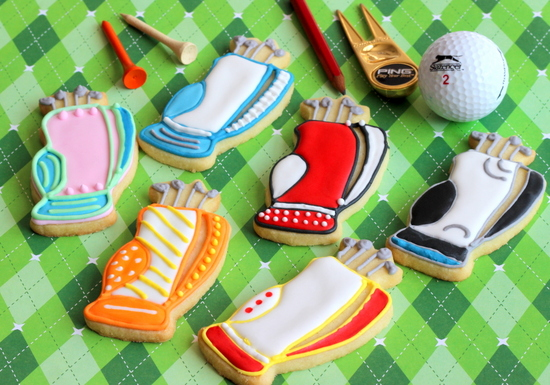 Golf bag cookies
