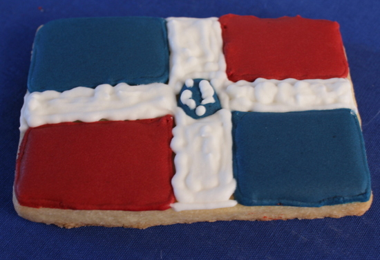 My first Dominican flag cookie