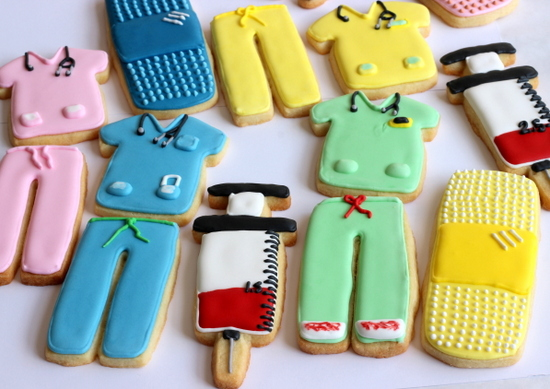 My first medical themed cookies