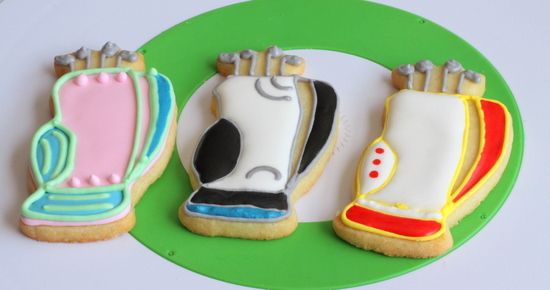 Some of the golf bag cookies
