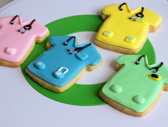 stethoscopes on the scrub cookies