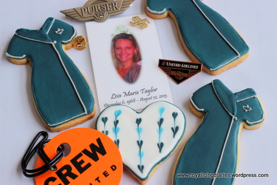 Flight Attendant cookies in memory of a special person