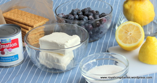 Lemon blueberry mock cheesecake parfaits: Ingredients