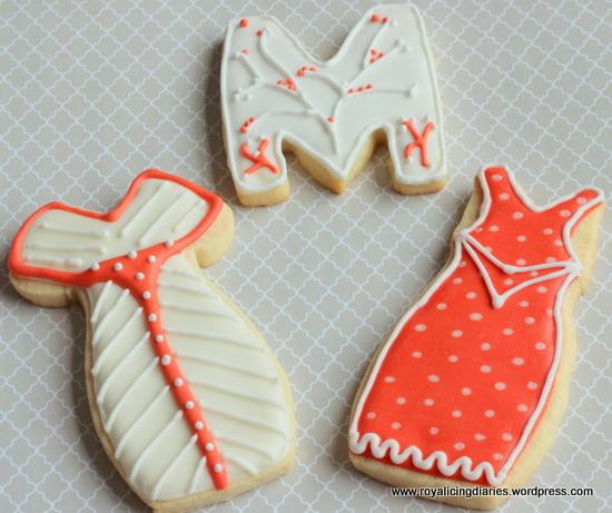 A few girlie birthday cookies