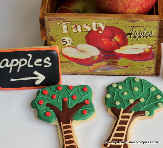 Apple cookies and apple picking