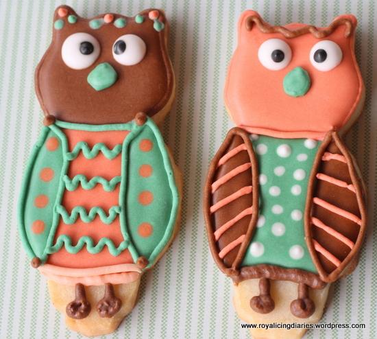 Cross-eyed owl cookies