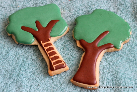 Flooded apple tree cookies
