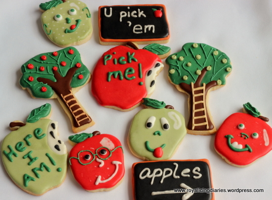 Some of my apple picking season cookies