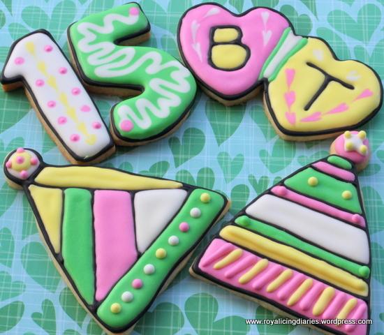 Girls birthday cookies