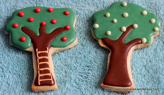 Two of the apple tree cookies